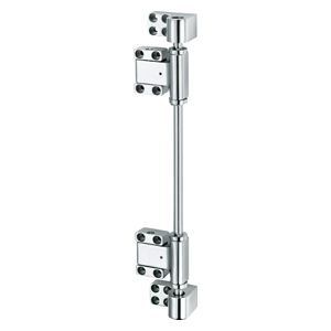 STAINLESS INTERLOCKING MULTIAXIAL HINGES FOR LARGE AIRTIGHT DOORS