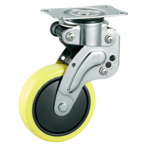 STAINLESS CASTERS WITH SHOCK ABSORBERS